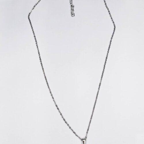 colgante color plata con piedra de color