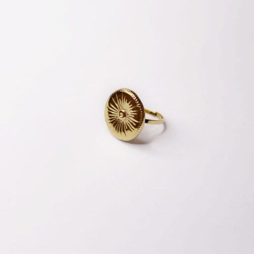 Anillo dorado sello