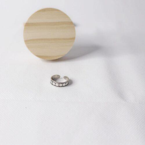 Anillo ajustable círculos plata 925
