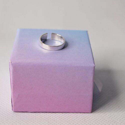 Anillo sencillo ajustable falange Plata de Ley 925