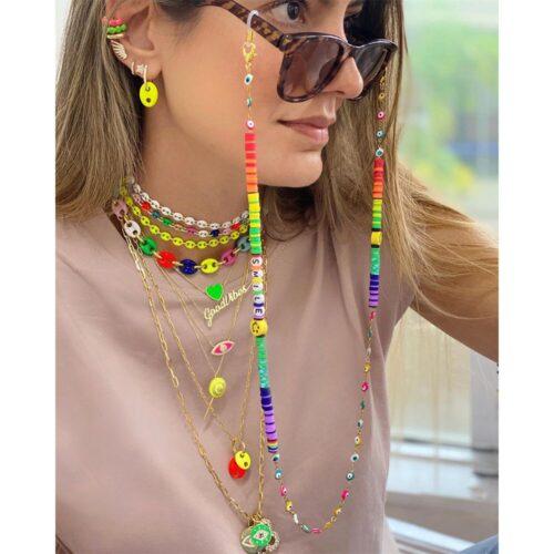 colgante para gafas y mascarillas colorido