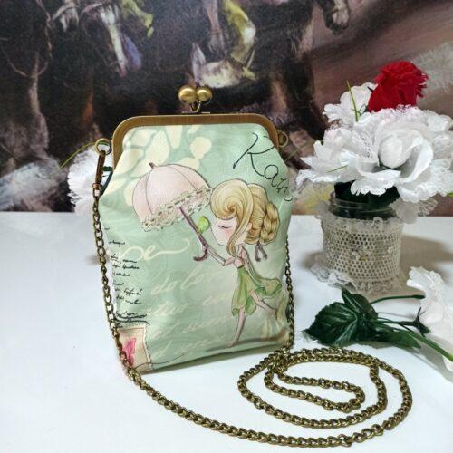 Bolso de mano Sweet & Candy Rain verde