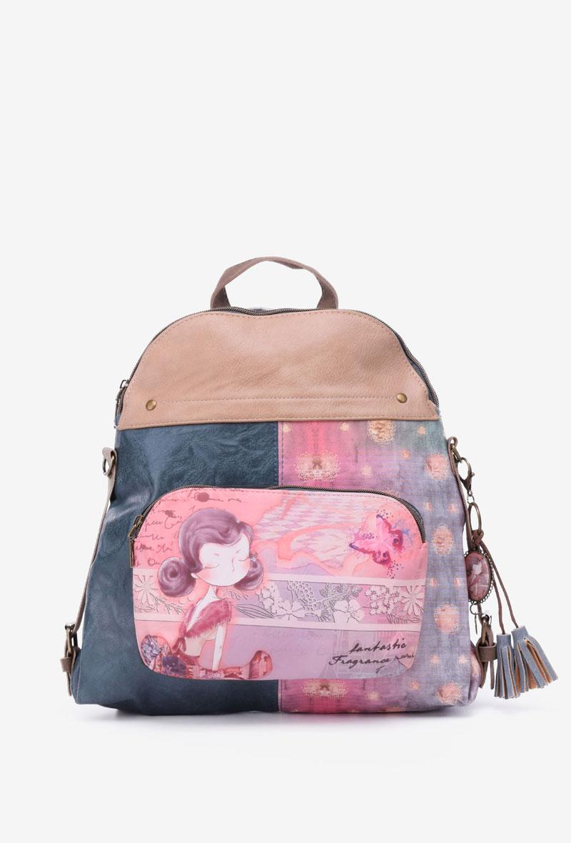 Mochila sweet candy modelo B8 color rosa