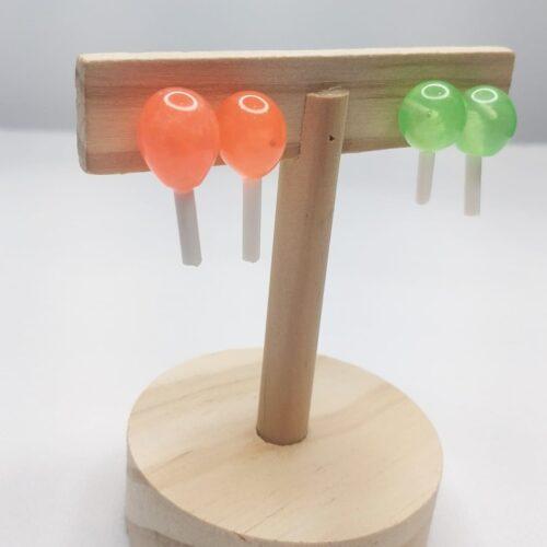 Pendientes caramelos de colores animados