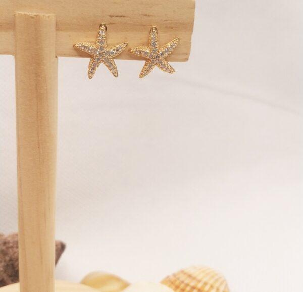Pendientes estrella de mar
